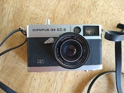 Olympus 35 EC 2 Film Compact Camera with E.ZUIKO 42mm F/2.8 Lens - working
