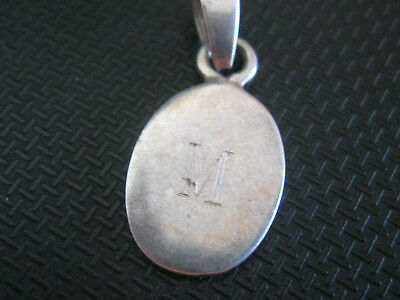 sterling silver jewelry 925  PENDANT  LETTER   M            MARKED