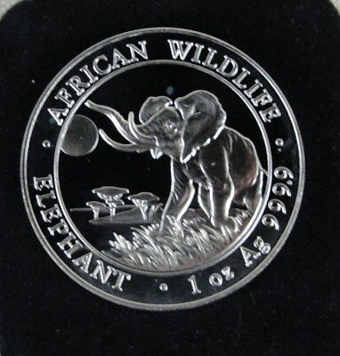 2016 Somalia 100 Shillings African Wildlife Elephant 1 oz .9999 Silver Coin #1