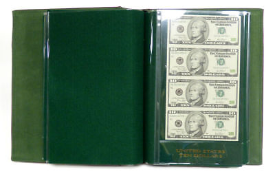 World Reserve Monetary Exchange Uncut Sheet Album 2x Each $1 $2 $5 $10 $20 & $50