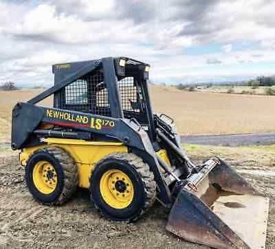NEW HOLLAND LS170 Skid Steer Rubber Wheel Loader Cat Aux Hyd TURBO DIESEL