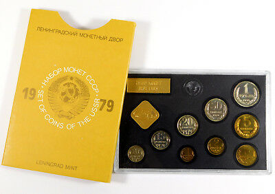 1979 USSR (Russia) 9-Coin Leningrad Mint Set - Original Packaging