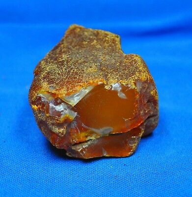63.54gr. BIG ANTIQUE NATURAL HONEY BALTIC AMBER STONE 老琥珀 EGG YOLK BUTTERSCOTCH