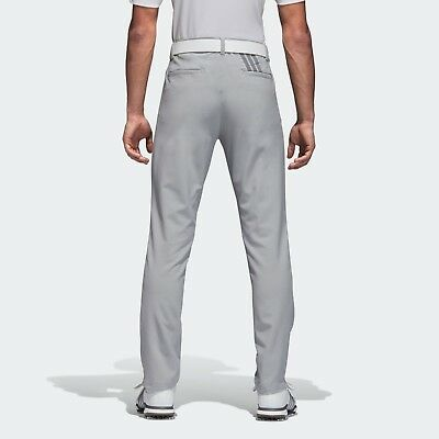 Adidas Ultimate 3 Stripe Mens Trousers Mid Grey Golf Pants