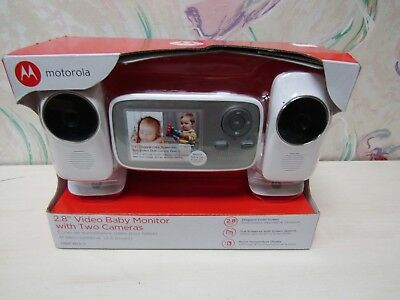 """Motorola 2.8"""" Video Baby Monitor with Two Cameras MBP483-2"""