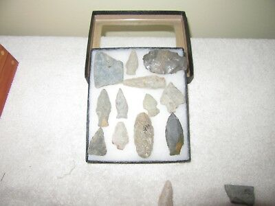 12 Piece's  Vintage Native American Artifact's Axe & Arrowheads