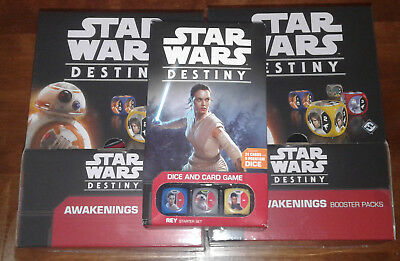 Star Wars Destiny - Awakenings Booster Box x2, Rey Starter! New and Sealed!