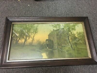 Antique Oak Frame Arts And Crafts Mission Style