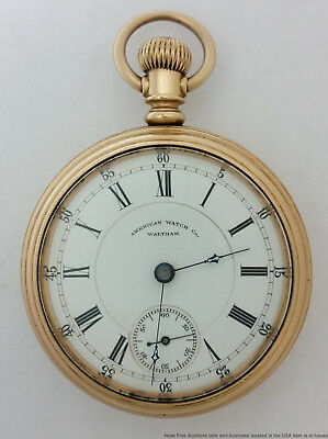Obscure Leyman P Crown Waltham Private Label Pocket Watch 1883 Model