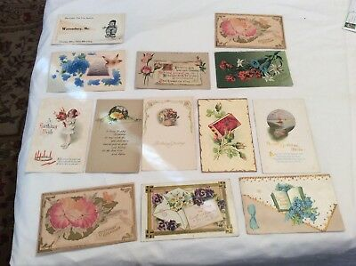 Antique  Postcards Lot Of 13 Embossed Very Rare