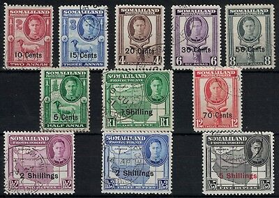 Somaliland Protectorate, Kgvi, 1951 Pictorials Set, Very Fine Used.
