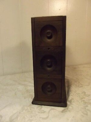 Bank of 3 Drawers from an Antique Wilcox & Gibbs Treadle Sewing Machine Cabinet