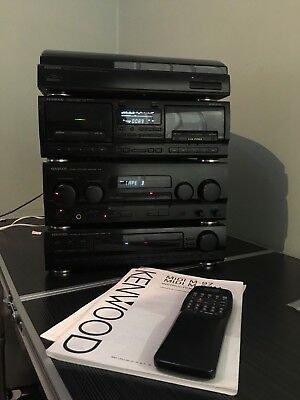 kenwood m97 HiFi System Amp Turntable Tape Radio With Manual And Remote