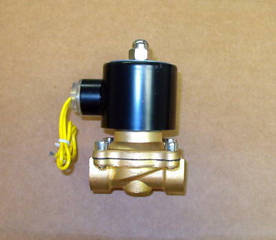 "Water Air Oil 110V AC Electric Brass Solenoid Valve 1/2"" NPT  Normally Closed"