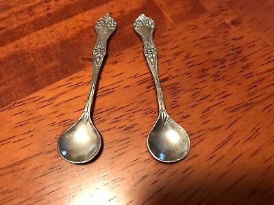 MAJESTIC Alvin sterling salt spoons (2) 2 1/4""