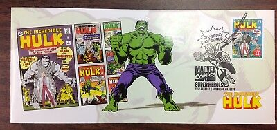 The Incredible Hulk #1 stamp First Day Issue SDCC Stan Lee Marvel