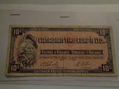 Vintage Canadian Tire Corp'n Ltd. 10 Cent Note Customer Profit Sharing Bonus