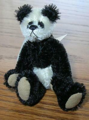 Miniature Teddy Bear. Artisan Ltd. Edition. Deborah Canham Panda 4""