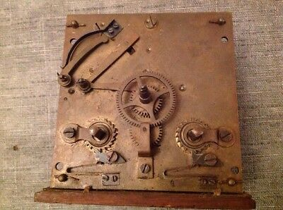 Antique R. Schnekenburger GmbH Clock Movement for Spare Parts  or Repair 10x10cm