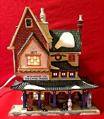 The China Trader Dept 56 Dickens Village 58447 Christmas snow city Victorian A