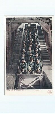 "Mining Postcard 10039 - ""just Up"" Ascending From The Depths Of A Copper Mine"