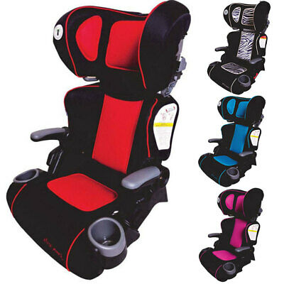 First Years Racing Style Foldable Car Seat Booster Toddler Children Kids 4yr+