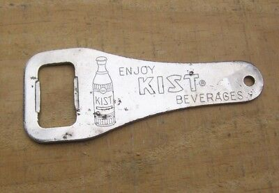 Vintage Enjoy Kist Beverages Unique Metal Soda Pop Bottle Opener m