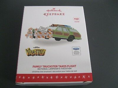 2016 Hallmark Ornament Family Truckster Takes Flight Magic Sound - Ford Vacation