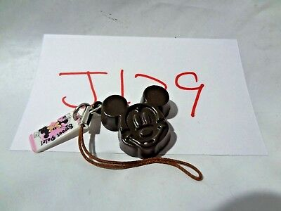 Free Shipping Disney Mickey Mouse Chocolate Cellphone Strap Japan J129