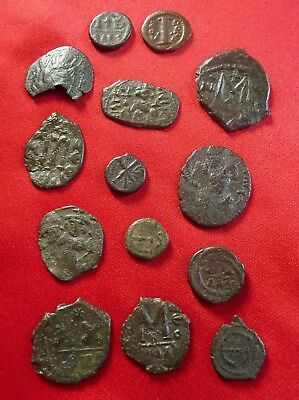 LOT of Interesting bronze Byzantine coins follis & pentanummi