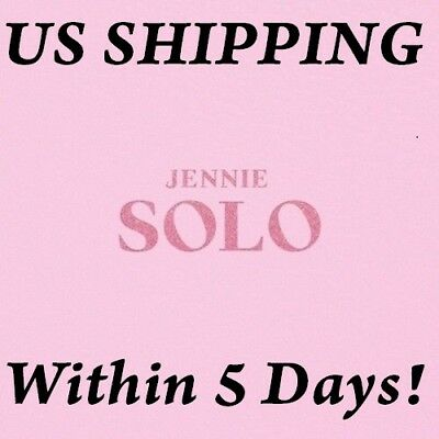 US SHIPPING BLACKPINK Jennie[Solo]1st PhotoBook CD+Poster+Book+etc+Gift+Tracking