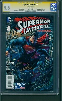 SUPERMAN UNCHAINED #1 CGC 9.8 2013 Signed by JIM LEE
