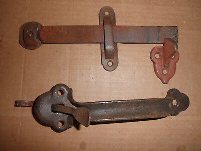 "9"" Vintage Barn Door Thumb Latch Handle Antique"