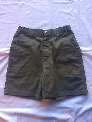 Boy Scouts Of America Shorts, Youth, Sz 16, Waist 28, Green