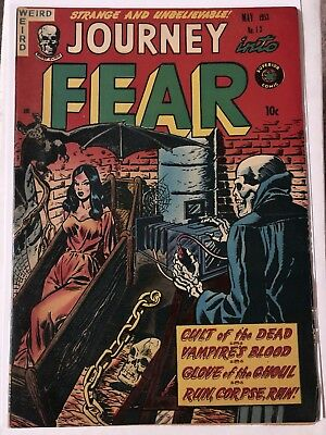 Journey Into Fear #13 (May1953) Superior Publishers Horror Comic Book Vintage