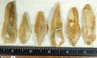 Lot of SIX! 9,000 to 4,000 Year Old Lithic Artifacts! Bir Gandus Morocco 45.61gr