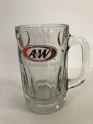 Vintage A&W Root Beer All American Food Heavy Glass Mugs