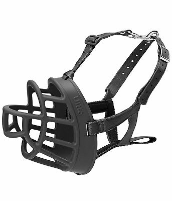 The Company of Animals Baskerville 5-Inch Rubber Ultra Muzzle, Black, Size 3