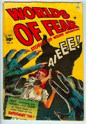 Worlds of Fear #2 (#1) Fawcett Comics 1952 Pre-Code Horror - One of the Rarest