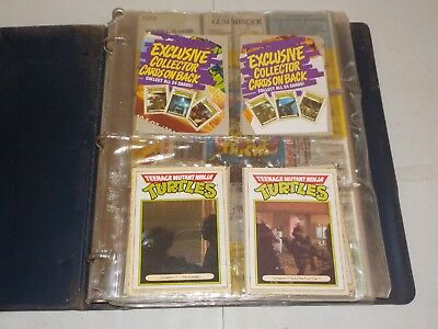 Non Sports Lot of 6 Complete Sets in Binder w/ TMNT, Vintage, Turtles, Nice! R