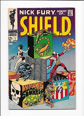 Nick Fury, Agent of SHIELD #1 Silver Age Key Issue Beauty! STERANKO COVER! DEAL!