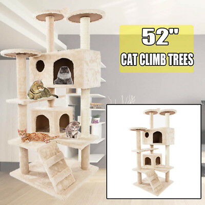 """52"""" Pet Tower Cat Tree Condo Furniture Scratch Post Pet Tree Kitty Play House"""