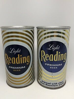 Reading Beer - 2 Different Pull Tab Cans... Reading, Pennsylvania - PA