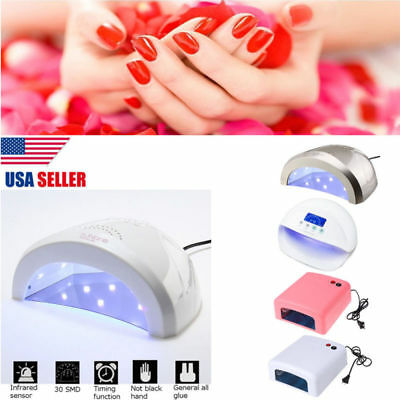 60W/50W/48W Pro LED UV Nail Dryer Curing Gel Polish Lamp Light Manicure Machine