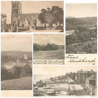 Vintage Tropical British Era Picture Postcard Used And Stamped  Mix Lot 5 Pcs