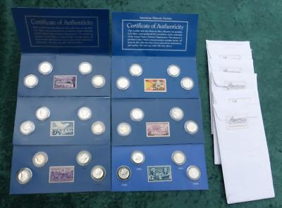 Treasury of United States Silver Dimes, Barber, Mercury, Roosevelt, 24 Coins