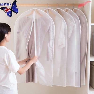 Suit Garment Dress Clothes Travel Cover Bag Dustproof Protector Waterproof Clear