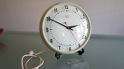 Smiths Wall Clock, Large Industrial Style Wall Clock, Not Working.