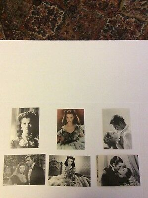 Lot Of (6) GONE WITH THE WIND Postcards 4x6
