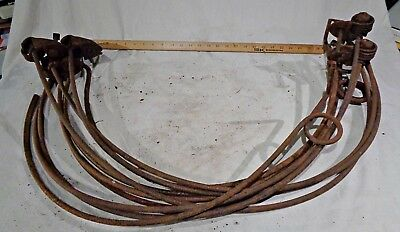 ANTIQUE HAY RAKE TINES vtg farm IMPLEMENT machinery HARVESTING tool parts RUSTY